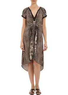 Twelfth Street by Cynthia Vincen Python-print High-low Dress