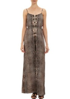Twelfth Street by Cynthia Vincen Python-print Maxi Dress