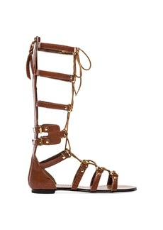 Twelfth Street By Cynthia Vincent Athena Lace Up Embossed Leather Gladiator Sandal