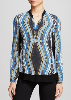 Twelfth Street by Cynthia Vincent Blouse - Henley Printed