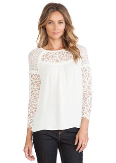 Twelfth Street By Cynthia Vincent Contrast Lace Blouse