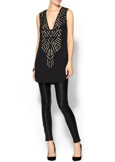Twelfth Street By Cynthia Vincent Cutout Embroidered Dress