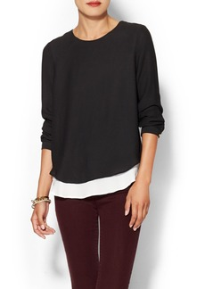 Twelfth Street By Cynthia Vincent Double Layer Blouse