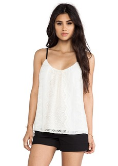 Twelfth Street By Cynthia Vincent Embroidered Cami in Ivory