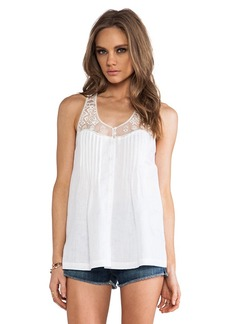 Twelfth Street By Cynthia Vincent Embroidered Mesh Tank in White