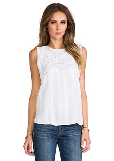 Twelfth Street By Cynthia Vincent Embroidered Mirror Tank in White