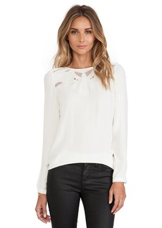 Twelfth Street By Cynthia Vincent Embroidered Yoke Blouse