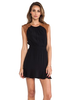 Twelfth Street By Cynthia Vincent Etched Leather Cap Mini Dress