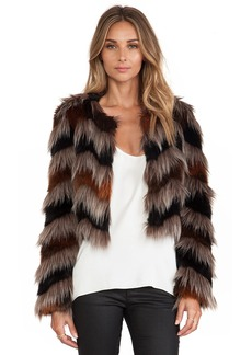 Twelfth Street By Cynthia Vincent Faux Fur Coat