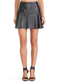 Twelfth Street By Cynthia Vincent Faux Leather Pleated Mini Skirt