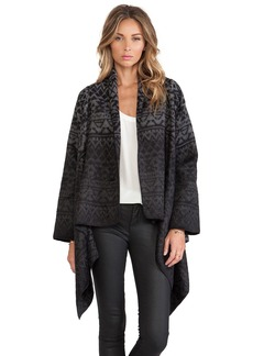 Twelfth Street By Cynthia Vincent Ikat Drape Sweater Jacket