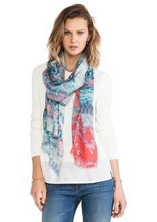 Twelfth Street By Cynthia Vincent Jacquard Scarf in Blue