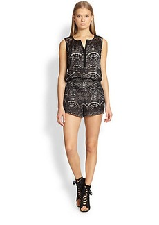 Twelfth Street by Cynthia Vincent Lace Short Jumpsuit