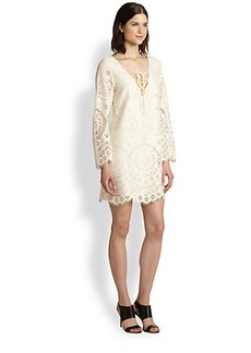 Twelfth Street by Cynthia Vincent Lace-Up Lace Dress