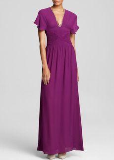 Twelfth Street by Cynthia Vincent Maxi Dress - Smocked Silk