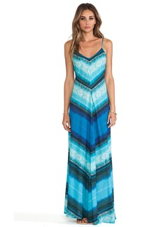 Twelfth Street By Cynthia Vincent Mitered Striped Maxi Dress