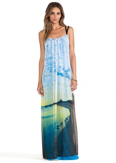 Twelfth Street By Cynthia Vincent Multi Strap Maxi Dress in Blue
