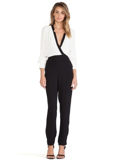 Twelfth Street By Cynthia Vincent Notched Collar Jumpsuit