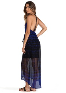 Twelfth Street By Cynthia Vincent Page Leather Knotted High-Low Dress