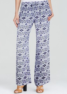 Twelfth Street by Cynthia Vincent Pants - Abstract Print Drawstring Waist