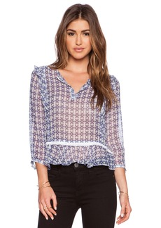 Twelfth Street By Cynthia Vincent Ruffle Blouse