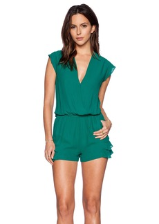 Twelfth Street By Cynthia Vincent Ruffle Flutter Romper