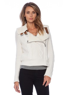 Twelfth Street By Cynthia Vincent Shearling Lined Moto Jacket