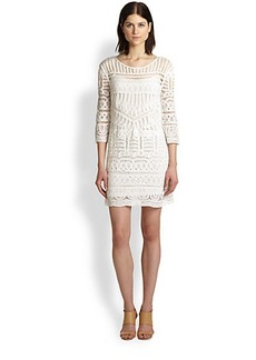 Twelfth Street by Cynthia Vincent Sheer Patterned Woven Dress