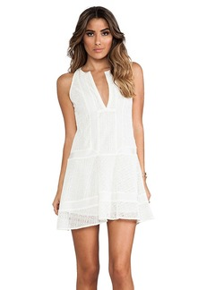 Twelfth Street By Cynthia Vincent Sleeveless Inset Dress in White