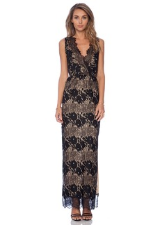 Twelfth Street By Cynthia Vincent Sleeveless Lace Maxi Dress