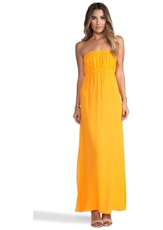 Twelfth Street By Cynthia Vincent Strapless Maxi Dress in Orange