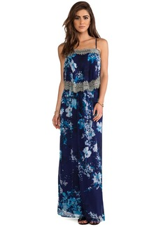 Twelfth Street By Cynthia Vincent Tiered Maxi Dress in Navy