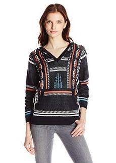 Twelfth Street by Cynthia Vincent Women's Baja Silk Cotton Intarsia Sweater