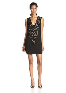 Twelfth Street by Cynthia Vincent Women's Cutout Embroidered Shift Dress