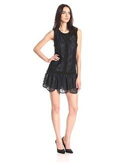 Twelfth Street by Cynthia Vincent Women's Diamond Lace T-Back Mini Dress