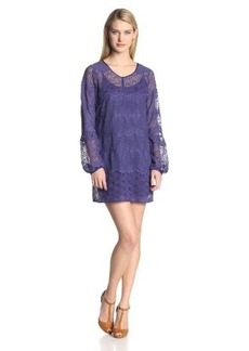 Twelfth Street by Cynthia Vincent Women's Embroidered Long Sleeve Shirt Dress