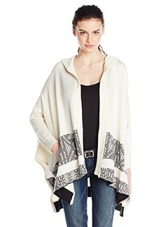 Twelfth Street by Cynthia Vincent Women's Hooded Poncho Sweater