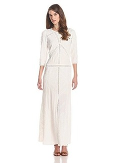 Twelfth Street by Cynthia Vincent Women's Lace Facet 3/4 Sleeve Long Dress