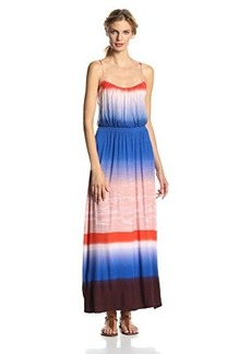 Twelfth Street by Cynthia Vincent Women's Ombre Jersey Strapless Maxi Dress