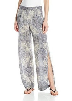 Twelfth Street by Cynthia Vincent Women's Python Printed High Slit Wide Leg Pant