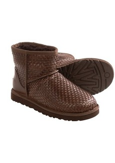 UGG® Australia Classic Mini Woven Boots - Leather (For Women)