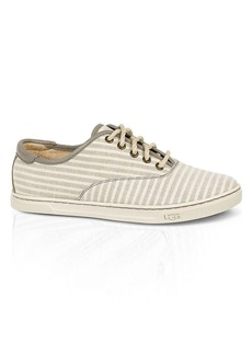 UGG® Australia Flat Lace Up Sneakers - Eyan II Stripe