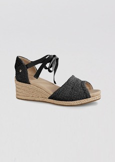 UGG® Australia Peep Toe Platform Espadrille Wedge Sandals - Delmar