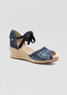UGG® Australia Peep Toe Platform Wedge Espadrille Sandals - Delmar