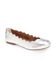 UGG® Australia 'Chandra Metallic' Scalloped Flat (Women)