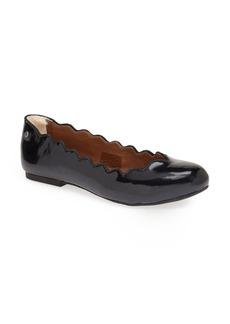 UGG® Australia 'Chandra Patent' Scalloped Flat (Women)