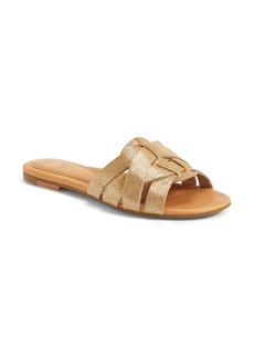 UGG® Australia 'Chanez' Metallic Leather Slide Sandal (Women)