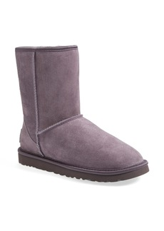 UGG® Australia 'Classic Short - Crystal Bow' Water Resistant Suede Boot (Women)