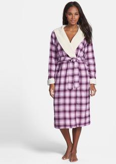 UGG® Australia 'Frances' Hooded Plaid Robe