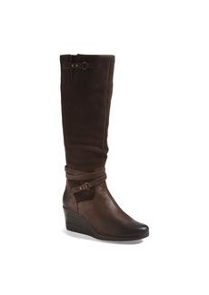 UGG® Australia 'Lesley' Waterproof Suede Wedge Knee High Boot (Women)